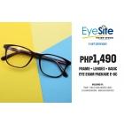 EVS Php1,490  Frame + Lenses + Basic Eye Exam Package